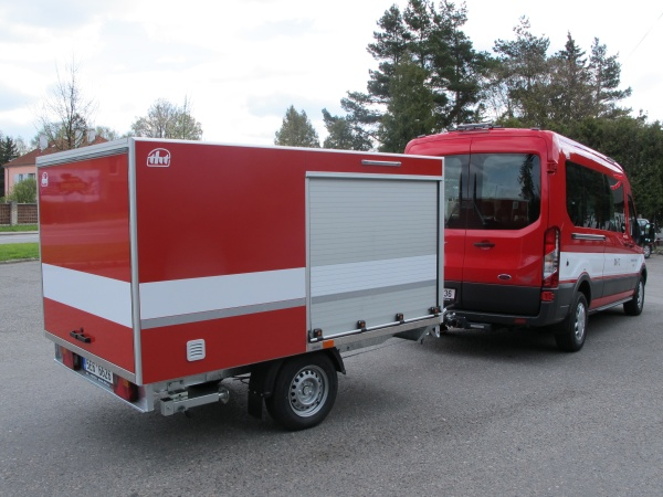 Trailer for firefighting - 1300 kg